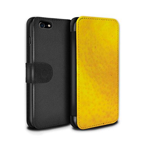 Stuff4 Coque/Etui/Housse Cuir PU Case/Cover pour Apple iPhone 7 / Orange Design / Fruits Collection Orange / Peau