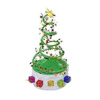 TOYMYTOY Decorado árbol de Navidad Espiral Primavera Santa Hat Árbol de Navidad Bobina Primavera Hat