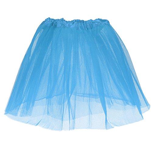 Und Tutu Lila Kind Blau (Mädchen Kinder Lila 3-Schicht Tutu Prinzessin Minirock Sommerparty Tanzkleider - Himmel)