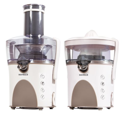 Havells Fusion 2-in-1 900-Watt Stainless Steel Juicer (Ivory/Beige)