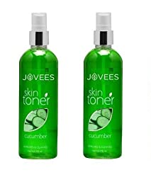Jovees Cucumber Skin Toner/Astringent - 200ml (Pack of 2)