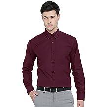 Hancock Maroon Solid Slim Fit Formal Shirt - 9336 MAROON