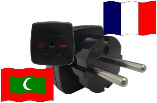 adattatore-di-viaggio-francia-a-maldive-fr-mv-travel-plug-france-voyage-contatto-di-protezione