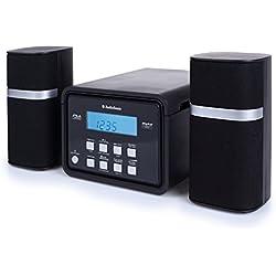Smartwares HF-1251 – Sistema de sonido, radio FM, reproductor de CD, entrada auxiliar, función de alarma