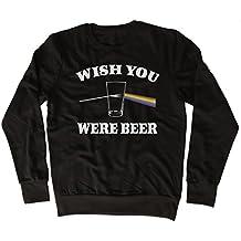 Wish You Were Beer Slogan Rainbow Felpa divertente, bella, regalo, designer, unisex
