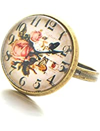 YELLOW CHIMES Flower Designer Antique Look Designer Ring For Women & Girls