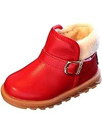 Botas Niña Piel de 0-12 Años, Zolimx Niños Bebé Sólido Cuero Caliente Martin Botas Princesa Invierno Zapatos Bebe Fiesta