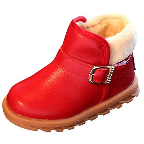 Ears Jungen Mädchen Winter Leder Schneestiefel Warme weiche Winterschuhe Boots für Kinder BabyWinterschuhe Warme Martin Stiefel Prinzessin Winterschuhe