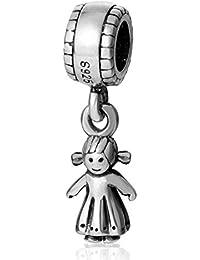 Little Boy charms LEY 925Plata Niño Dangle Bead Charms Collar de bebé encanto para pulsera Europea