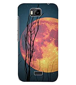 ColourCraft Moon Design Back Case Cover for HUAWEI HONOR BEE