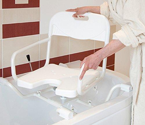 Russka Drehbarer Aluminium-Badewannensitz mit Armlehnen und Rückenlehne