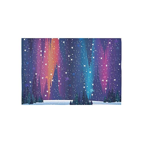 Alfreen Tapestry Art Decor, Art Decor, Tapestry Northern Lights and Winter Nature Pattern Tapestries Wall Hanging Flower Psychedelic Tapestry Wall Hanging Indian Dorm Decor for Living Room Bedroom -