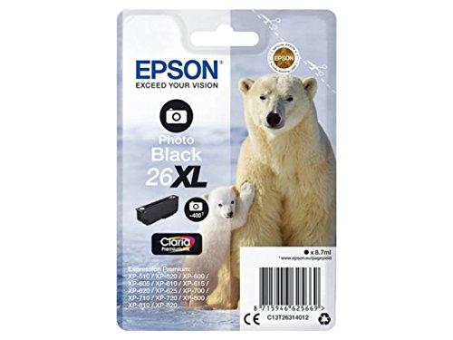 Preisvergleich Produktbild Epson original - Epson Expression Premium XP-520 (26XL / C13T26314012) - Tintenpatrone schwarz hell - 8, 7ml