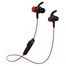 1MORE iBFree Sport Bluetooth Earphone with Mic (IPX6 Waterproof Rating & 8hrs Battery Backup) (Red)- 2018, New Model