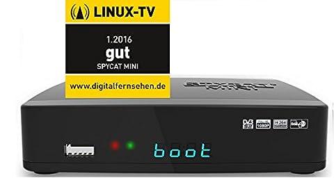 SpyCat–WLAN Bluetooth Suche Blind minilinux E2Receiver Tuner-Fernsehen HD-Kabel SAT IP DVB-C/T2USB