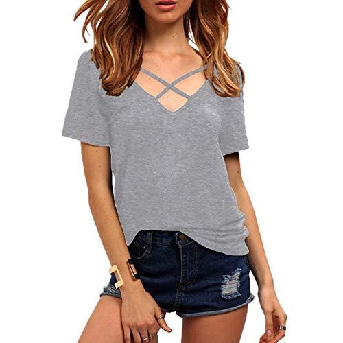 TYML Sommer Sexy Frauen V-Ausschnitt Bandage Schwarz Solide T-ShirtWhite Mode Lose Kurzarm Tops Dame Punk T Shirts