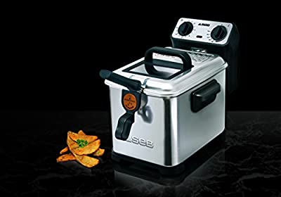 Seb Friteuse Semi-Professionnelle Filtra Pro 4L 2300W Frites Poulet Capacité 1,3kg Cuve Amovible Thermostat Réglable Inox