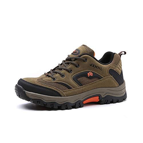 Scarpe da Trekking da Uomo Outdoor Low Top Professionale Antiscivolo Traspiranti da Esterno per Sneaker Grigio Cachi Verde Militare 39-46 Cachi 43