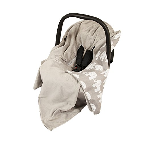 new-unique-double-sided-car-seat-grey-grey-elephants-blanket-cover-cosytoes-footmuff-100x100cm-blank