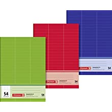Brunnen Vocabulary Book (A5, 32 Sheets, Ruled, 3 Columns, 54 ruling), Pack of 1, 1043925
