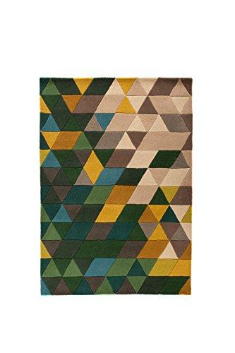 P&N Homewares Prism Teppiche (Maßstab), Green/Multi-Colour, 120X170cm - Prism Multi Teppich