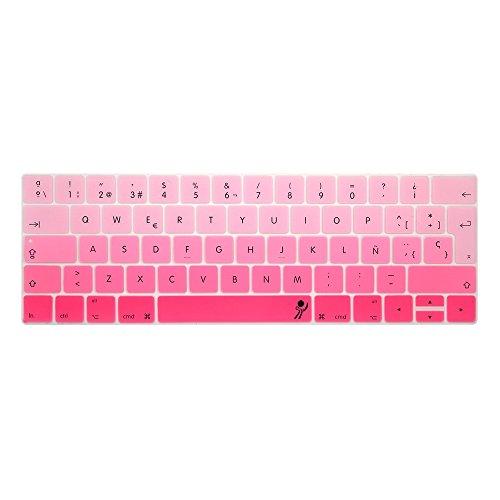 proelife 2016Nuevo Ultra Thin Funda de silicona para teclado español Skin para MacBook Pro 13'MacBookPro 15' (con Multi-Touch Bar y Retina) -spanish