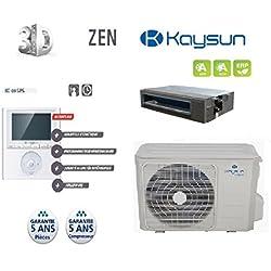 Kaysun - Pack Climatisation Gainable Kp-105 Dvn10 Unite Exterieure 10500W + Unite Interieure + Commande Kc-03 Sps (Habitation 110M2)