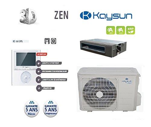 Kaysun - Pack Climatisation Gainable Kp-52 Dvn10 Unite Exterieure 5200W + Unite Interieure + Commande Kc-03 Sps ( Habitation 60M2)