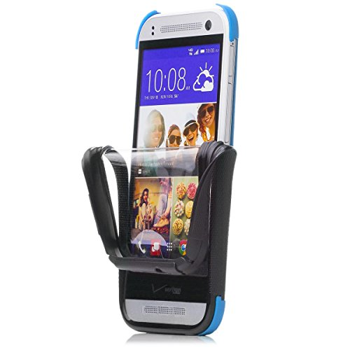 iCues HTC One Mini 2 - M8 Mini |  2 Part Touch Case Blau | Outdoor Dickes Hardcase Stoßfest Militär Lifeproof Männer Jungs 360 Grad Display Full Body Rundum beidseitig Komplett vorne hinten double Front Schutzhülle Hülle Cover Schutz (Htc One Mini 2 Case)