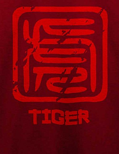 Chinese Signs Tiger T-Shirt Bordeaux