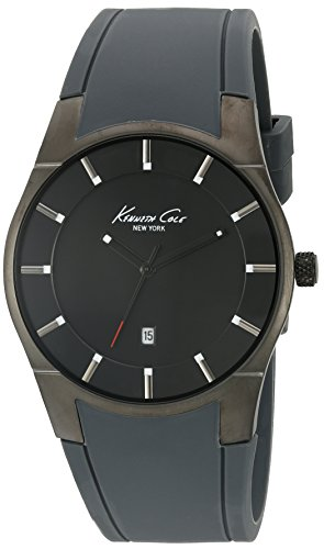 Kenneth Cole 10027723 Men's Black Silicone Band Grey Dial Smart Watches