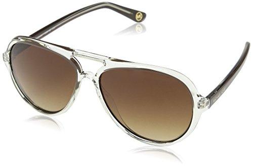 Michael kors caicos occhiali da sole, brown (transparent clear), taglia unica unisex-adulto