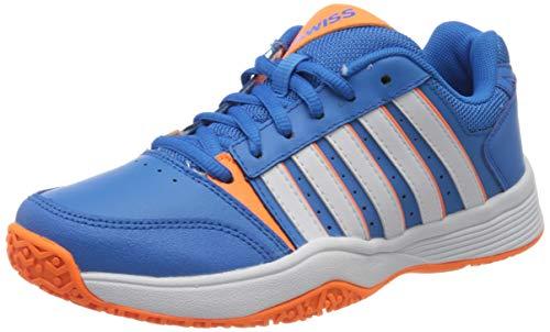 K-Swiss Performance Unisex-Kinder Court Smash Omni Tennisschuhe, Blau (Brilliant Blue/White/Neon Orange 428M), - Tennisschuhe Orange
