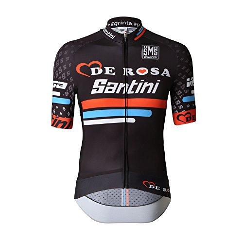 Santini Replica Team Original DE Rosa Sleek Short Sleeve Jersey XS schwarz - schwarz (Jersey Team Replica)