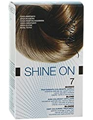 Bionike - Shine On 7 Blond 1 Tube Coloration 50Ml + 1 Flacon Révélateur 75Ml + 1 Sachet Masque Rééquilibrant 15Ml + Gants