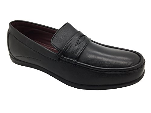 Dr Keller , Herren Mokkasins Black Super Softie Leather