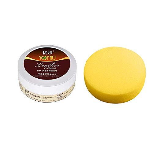 Tonsee Multifunktionales Lederreiniger Leder Auffrischungsreiniger Reinigungscreme Repair Tool Cream mit Schwamm Ausgezeichneter Lederleder-Reiniger -