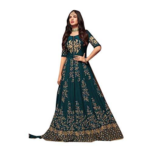 ETHNIC EMPORIUM Mujeres Musulmanas Abaya Hijab Kaftan Bollywood Shalwar Traje Partido paquistaní Señoras de la Boda Anarkali Largo Salwar Kameez Kamiz Vestido de Malla Punjabi 7104