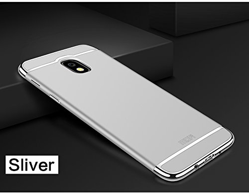 Samsung Galaxy J730/J7 2017/J7 Pro Hülle - Meimeiwu Elektroplattierter Kappen mit einer Matter Oberfläche 3-Teilige Styliche Extra Dünne Harte Schutzhülle Case für Samsung Galaxy J730/J7 2017/J7 Pro - Silber