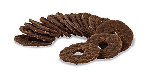 PetSafe Busy Buddy Nachfüll Snack- Ringe, 100% natürliche Rohhaut Kauringe für Busy Buddy Bouncy Bone S, Bristle Bone XS, Nobbly Nubbly XS, Jack S, Dinosaurier S, Schildkröte S, Multipack 16 (Petsafe Refill)