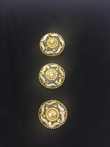 6 antique wood buttons for kurtis ethnic dresses growns