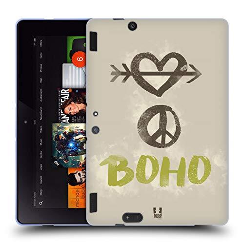 Head Case Designs Liebe, Frieden, Boho Bohemian Seele Soft Gel Hülle für Amazon Kindle Fire HDX 8.9
