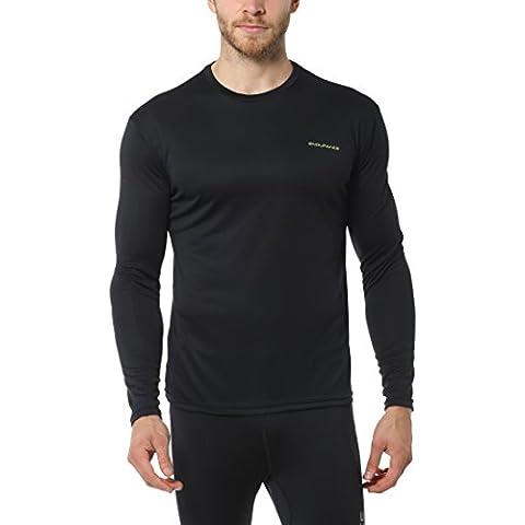 Ultrasport Endurance Vanda Performance - Camiseta de manga larga para hombre, color negro, talla L