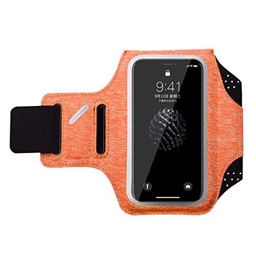 Mit Phone Armband, Herren und Fitness für Frauen Armlinge der Touch arm Tasche Touch, iPhone X/iPhone 8 Huawei universal Handtasche, mit Einem Kopfhörer Loch wasserdicht Key Bag - Orange - S