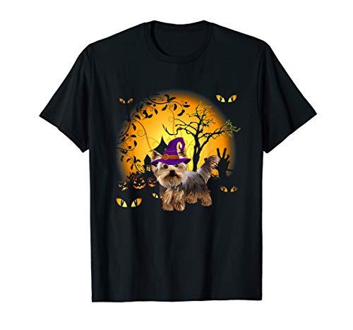 Lustiges Yorkshire Terrier Halloween Kostüm Tee - Hausgemachte Skelett Kostüm