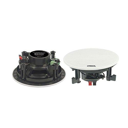 Lyndahl CS200BT MKII 2-Wege Bluetoothlautsprecher Deckenlautsprecher Einbaulautsprecher mit Bluetooth, 1 Paar Boxen (2 Speaker), Farbe: weiß, Decken-Einbaulautsprecher, Einbauboxen