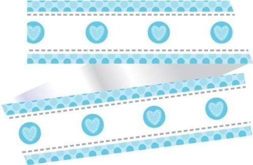 Baby blau Herz Stich Kuchen Rüsche - NEU Baby/ Baby Dusche (Creative Stiche)