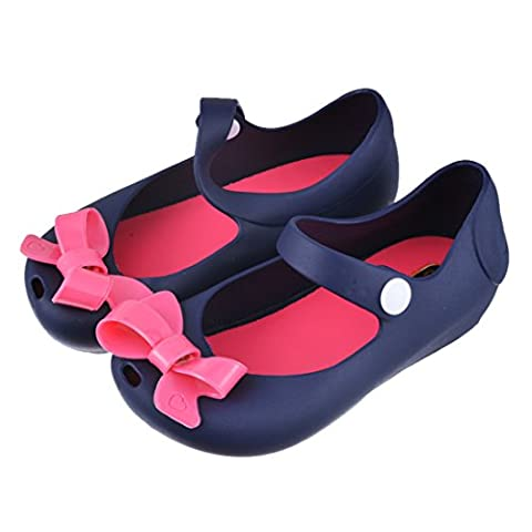 Encounter Mädchen Baby Kinderschuhe Sommer Loch Sandalen Laufenschuhe Prinyessin Schuhe Strandschuhe mit Schmetterling (29, Dunkelblau)