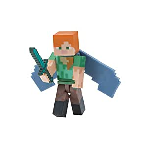 Minecraft 16492 alex with elytra wings figure for Alex co amazon