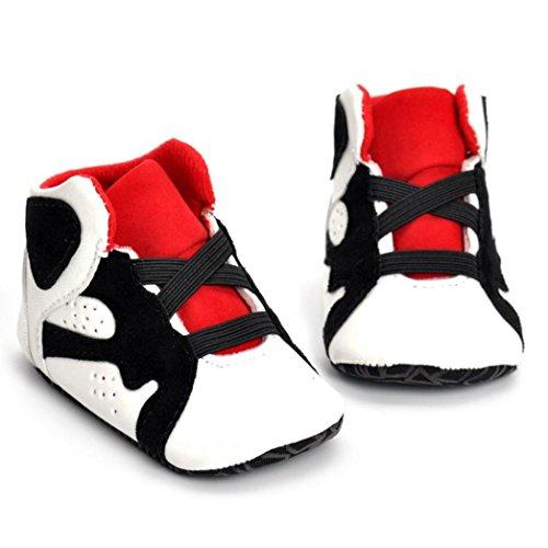 nschuh Schuhe, QinMM Neugeborene Säuglingskind Mädchen Jungen Krippe Schuhe Weiche alleinige Anti-Rutsch Baby Turnschuh Schuhe 0-18 Monate (0-6M, Weiß) (3-6 Monat Halloween-kostüm)